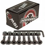 "INDEPENDENT ""Combi"" Skateboard Truck Mounting Bolts 1"" Phillips / Allen x8 BLACK"